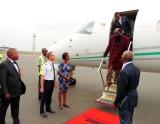 Dans l'avion présidentiel du Congo