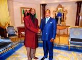 David Owuor et le président Sassou (Congo)